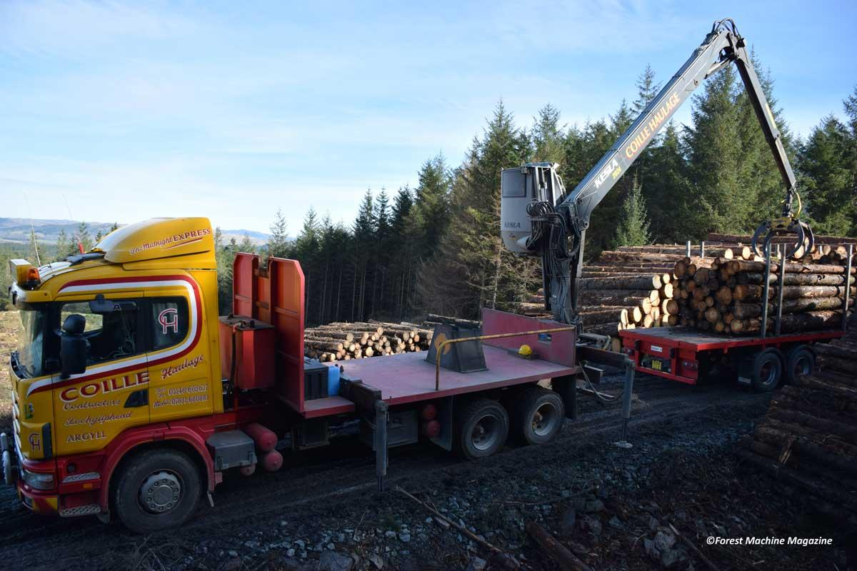 Coille-Haulage-Kesla-2020-mounted-on-a-Scania-124-Truck