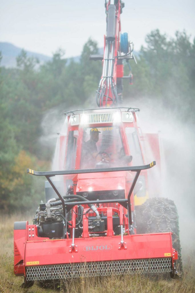 Demonstration of Bijol multi fire truck