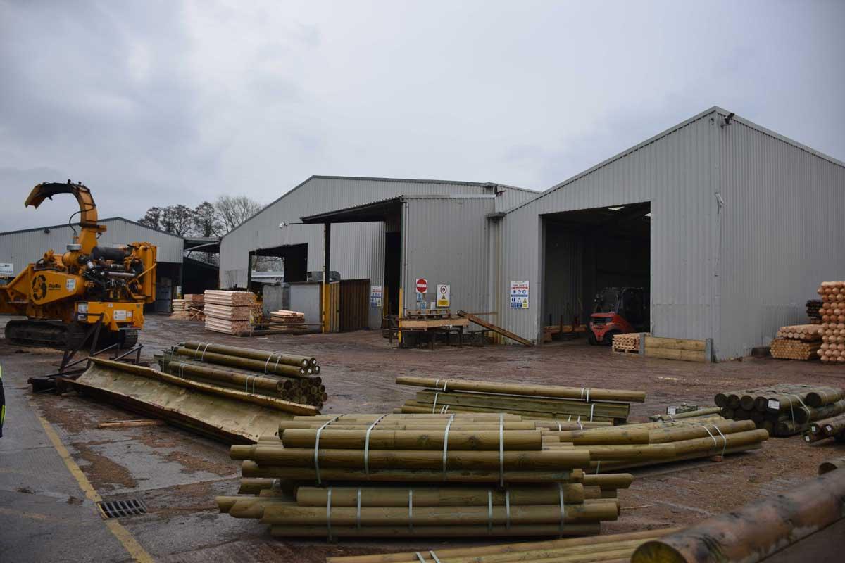 Yard at Clifford Jones Sawmill