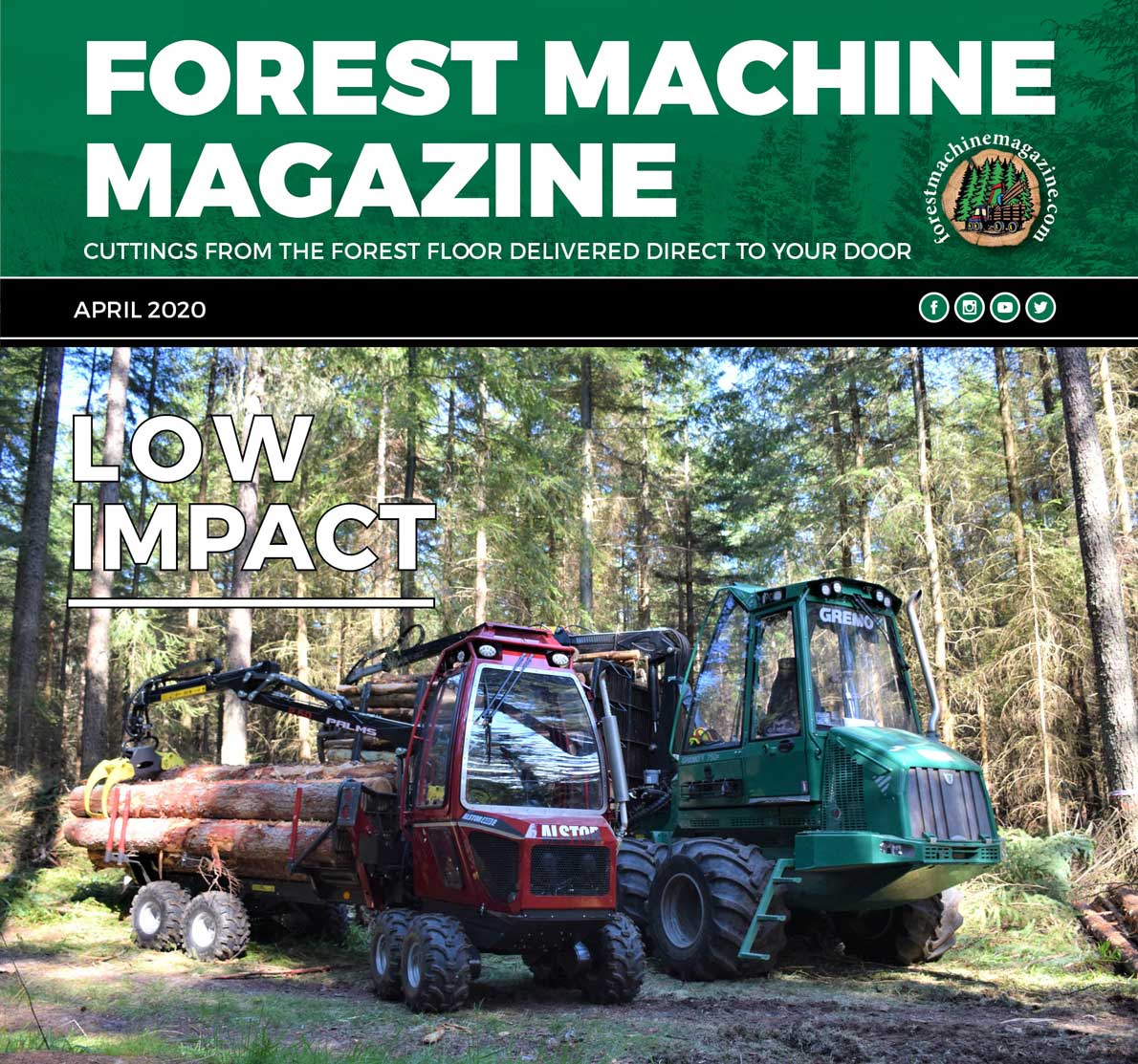 Forest Machine Magazine Emag Front Cover April 2020