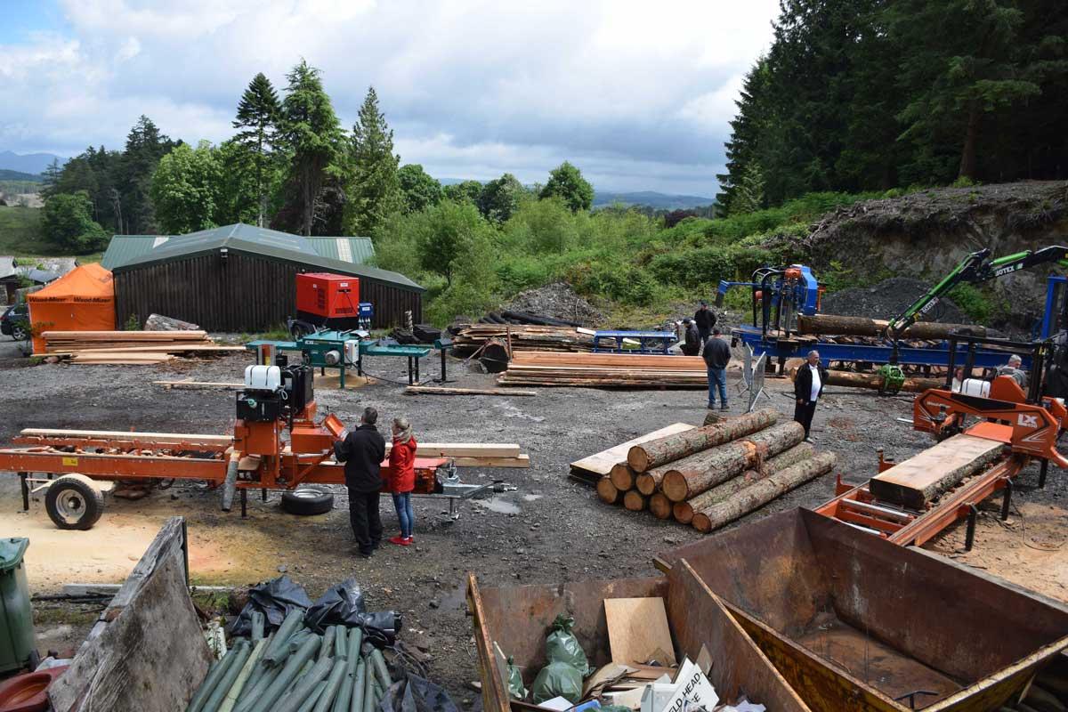 Wood Mizer open days at Graythwaite sawmill