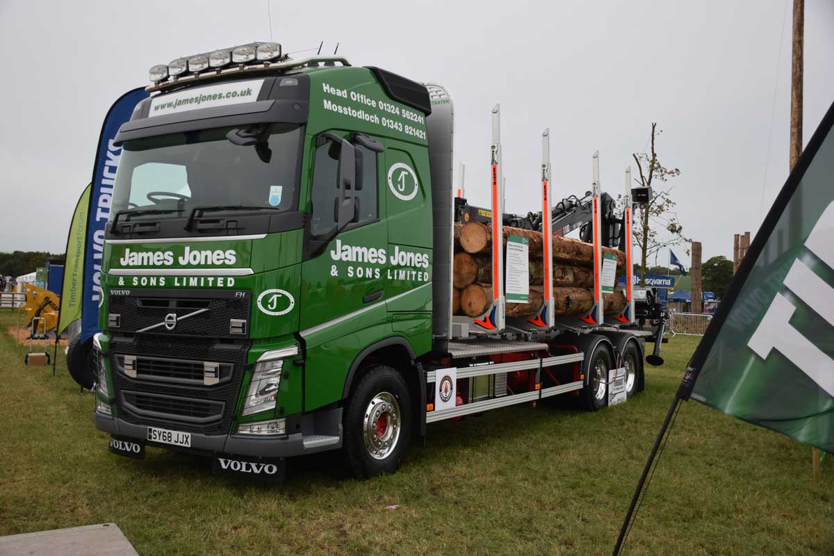 James Jones timber truck o display at the APF exhibition