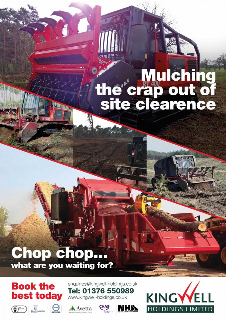 Kingwell Holdings Ltd advert for forest machine magazine