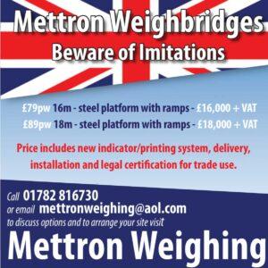 Mettron weighing advert