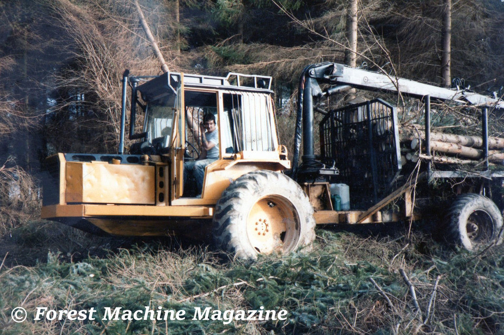 Rab Easton - My first proper forwarder, a Gremo TT12, in 1986.