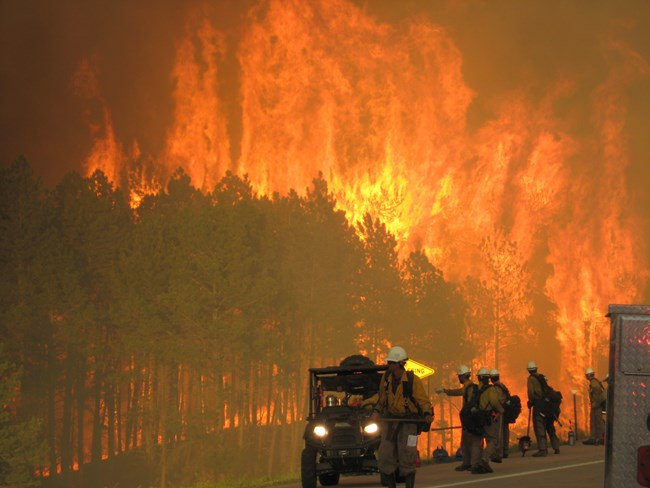 Alpine Hotshots provide initial attack on 2012 Myrtle Fire on the Black Hills National Forest in South Dakota