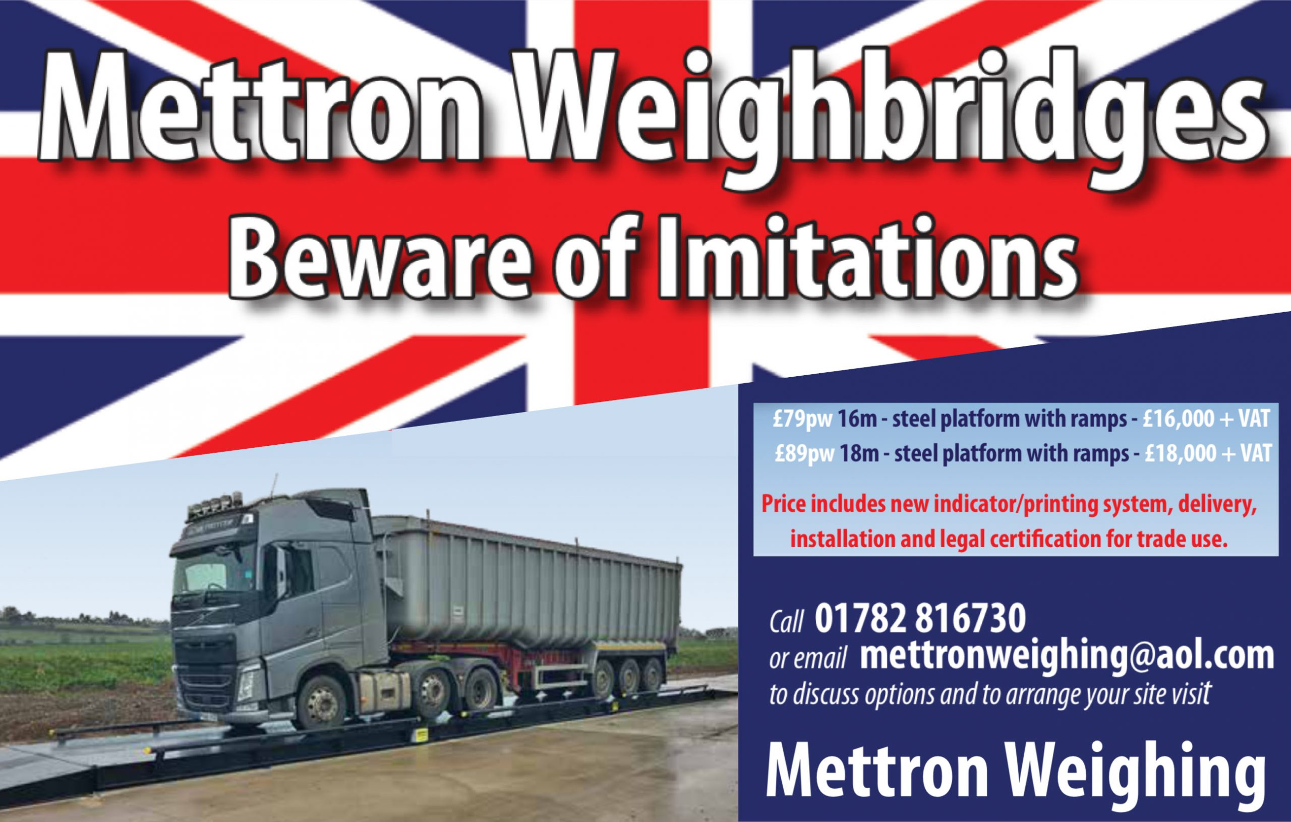 Mettron Weighing Advert