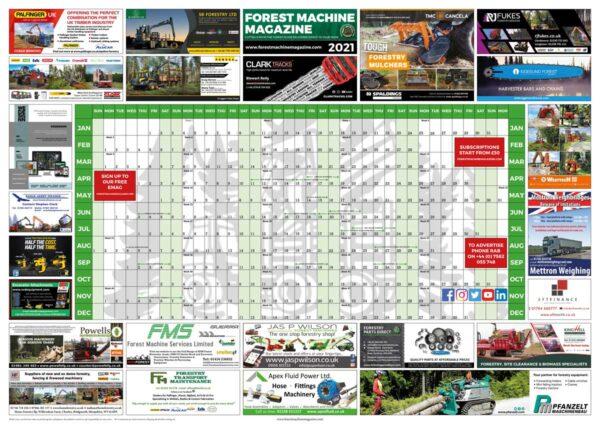 2021 Wall planner - Forest Machine Magazine
