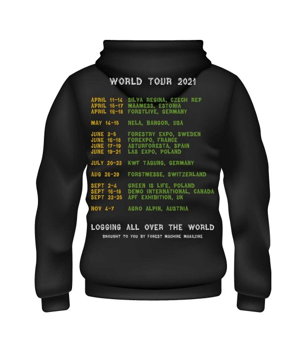 Logging ll over the world hoodie