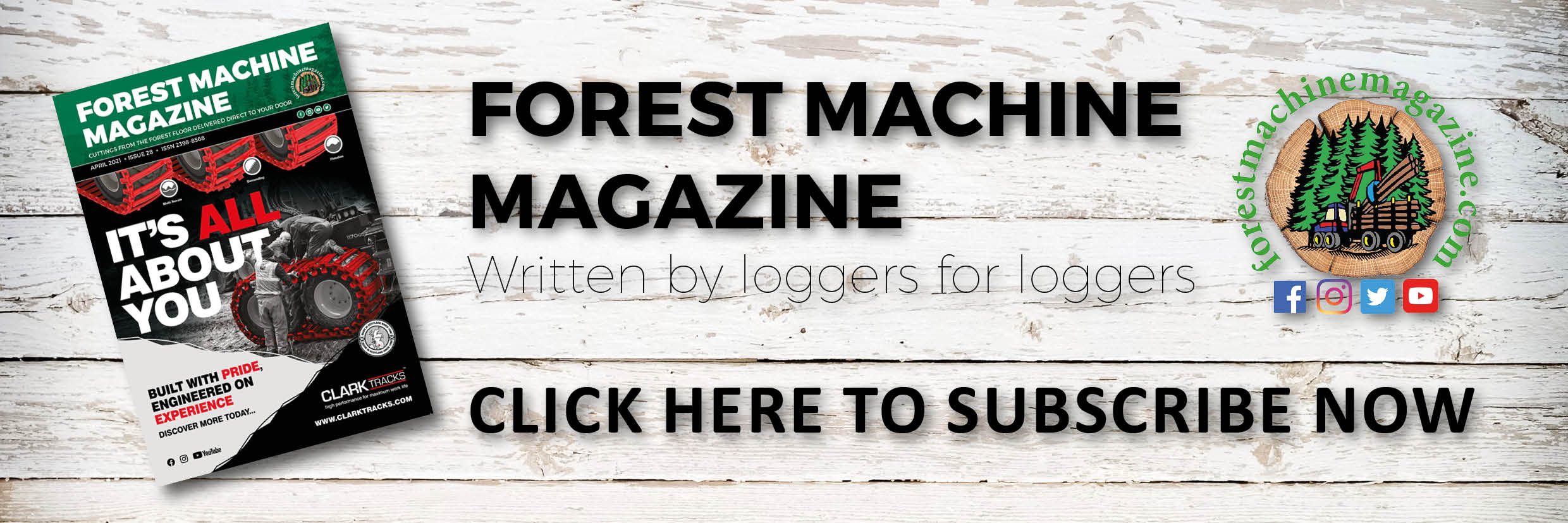 Forest Machine Magazine Banner