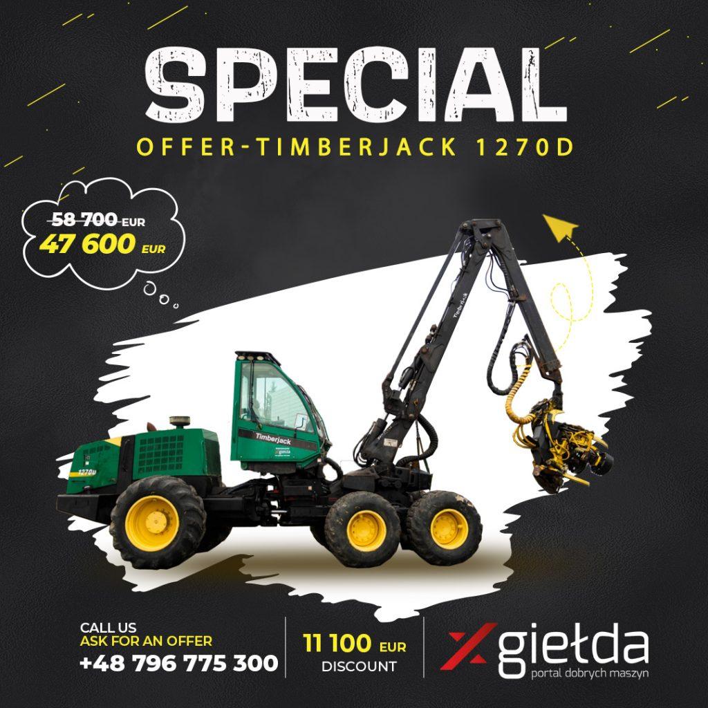 Timberjack 1270D Harvester for sale