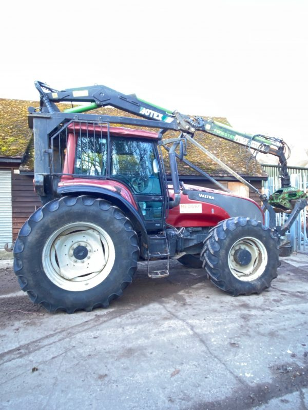 Valtra Tractor with Botex forestry crane for sale