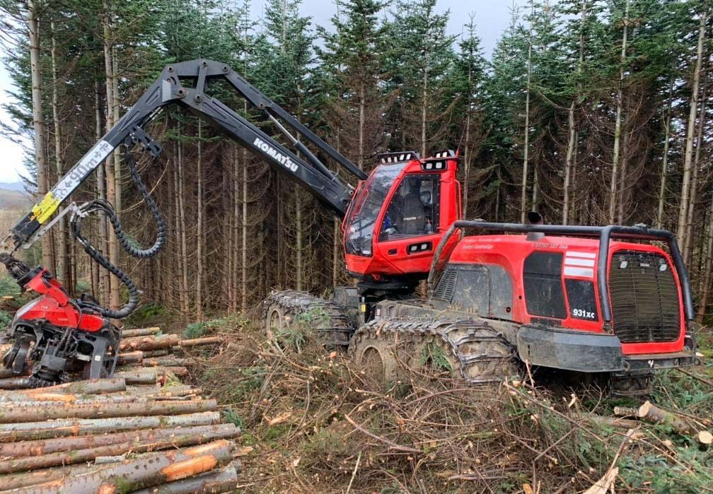 latest forestry equipment for sale - Komatsu 931XC Harvester
