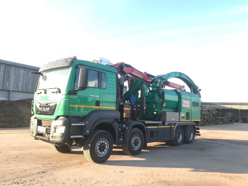 Jenz 583 DQ Hybrid Woodchipper forestry equipment for sale