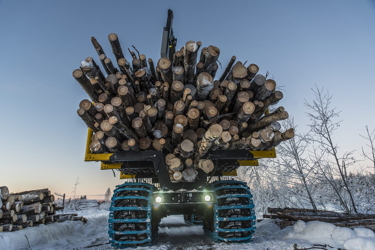 low-carbon footprint for forestry vehicles