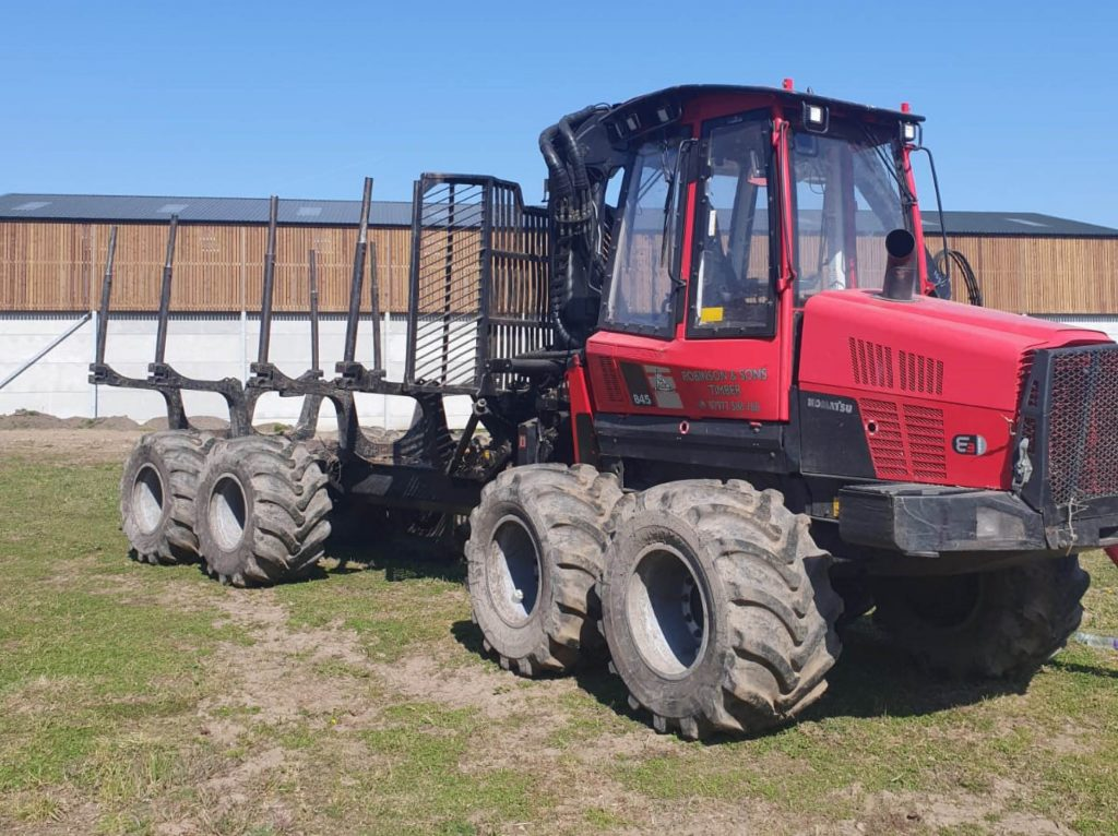 Used Forestry Equipment For Sale - Komatsu 845 Timber Forwarder