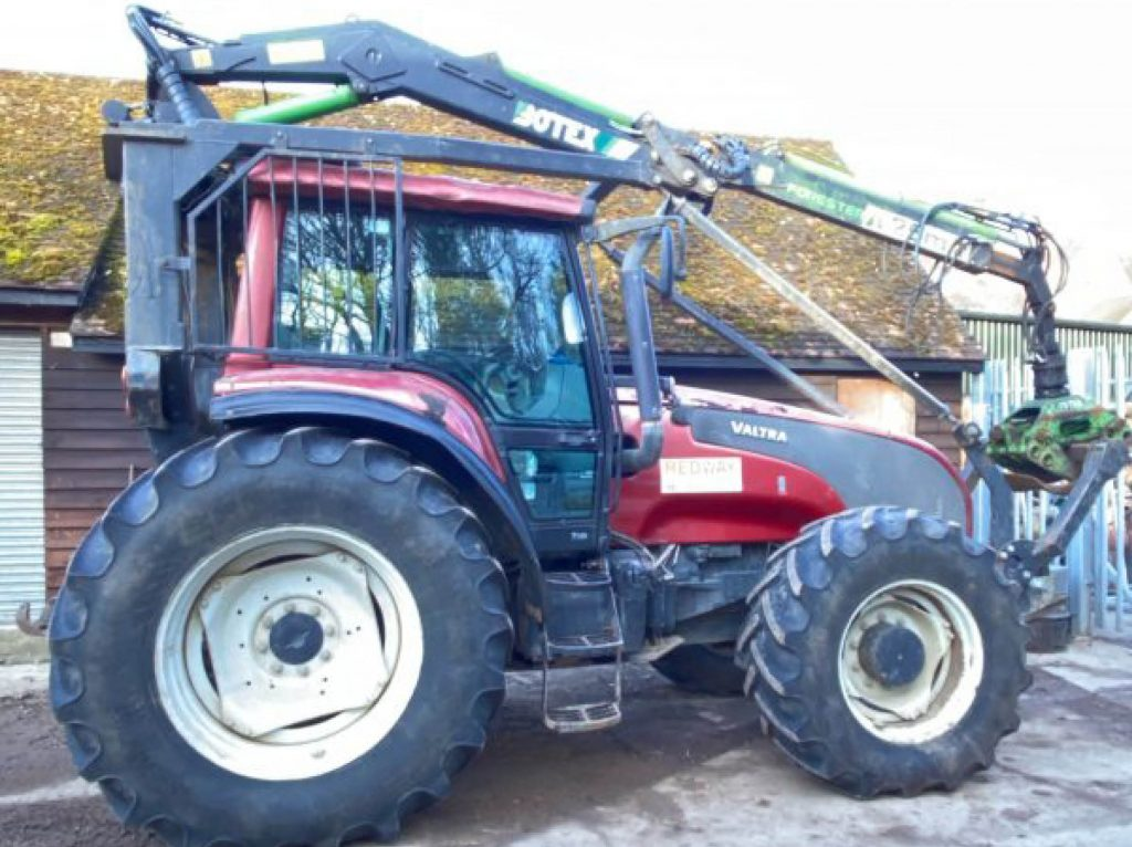 Used Forestry Equipment For Sale - VALTRA TRACTOR with BOTEX forestry crane