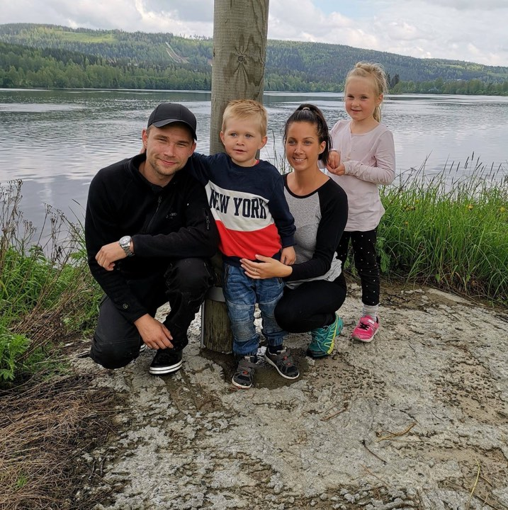 Family Photo: Seb, Emil, Lisbeth and Ida.
