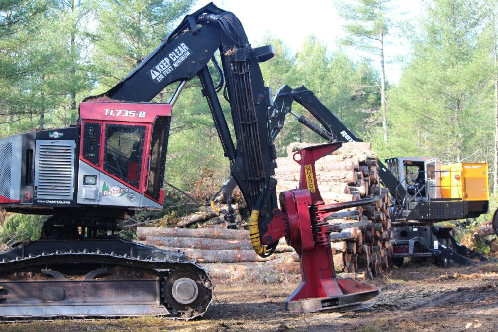 Timberpro 735 feller buncher.