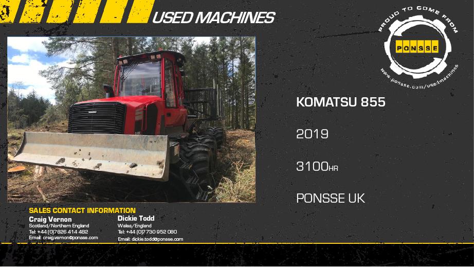Latest Forestry Equipment for sale - Komatsu 855