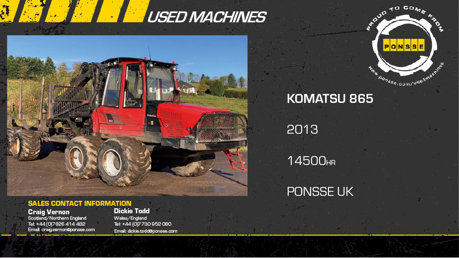Latest Forestry Equipment for sale - Komatsu 865