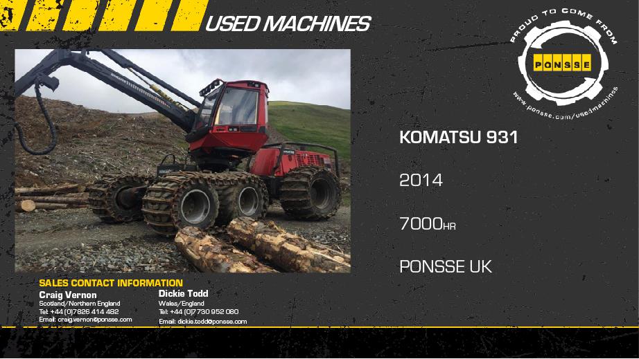 Latest Forestry Equipment for sale - Komatsu 931