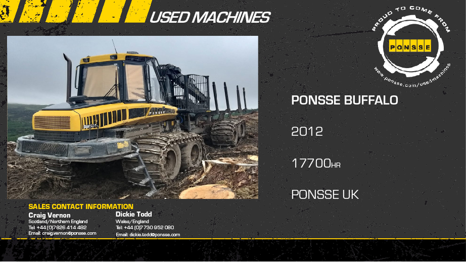 Latest Forestry Equipment for sale - Ponsse Buffalo