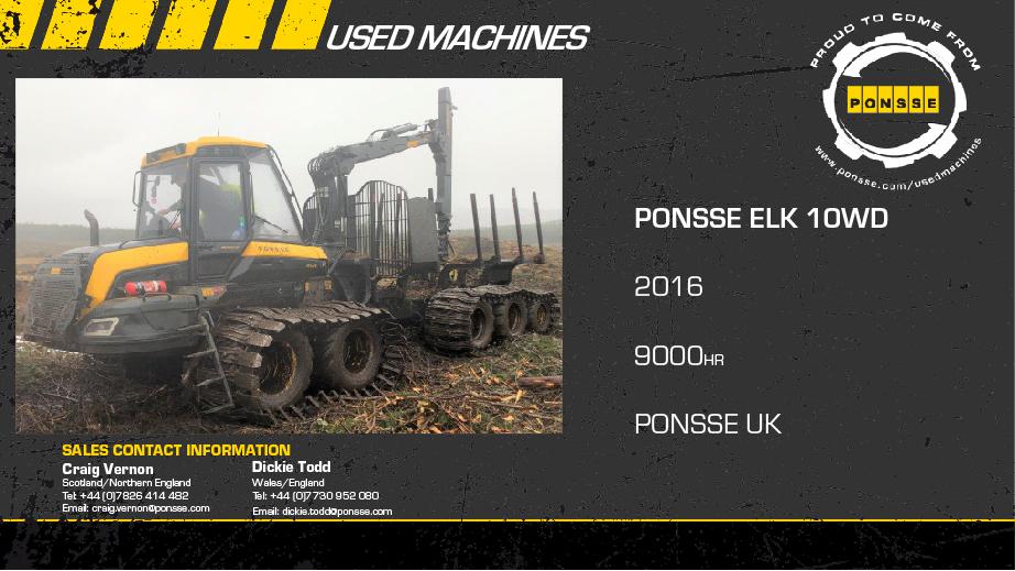 Latest Forestry Equipment for sale - Ponsse Elk 10WD