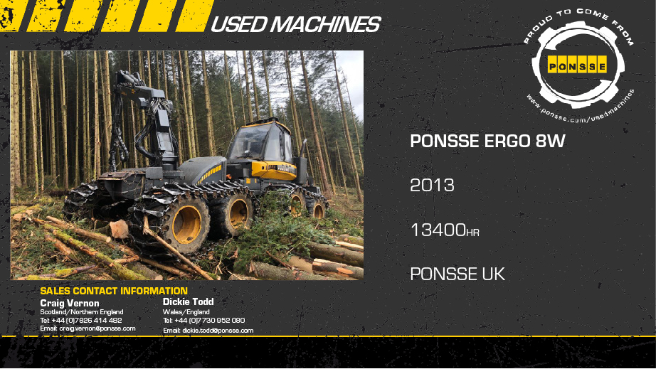 Latest Forestry Equipment for sale -   Ponsse Ergo 8WD