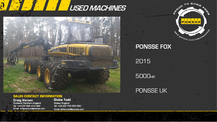 Latest Forestry Equipment for sale - Ponsse Fox