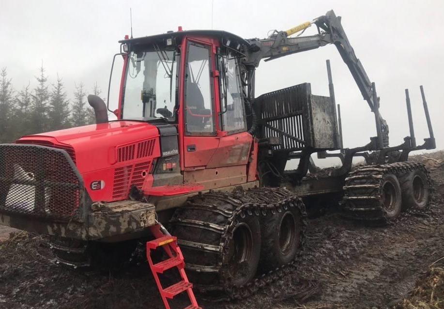Used Forestry Equipment - Komatsu 865 Forwarder