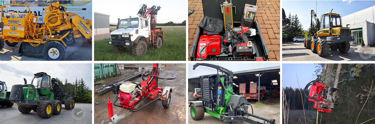 Latest used forestry equipment for sale