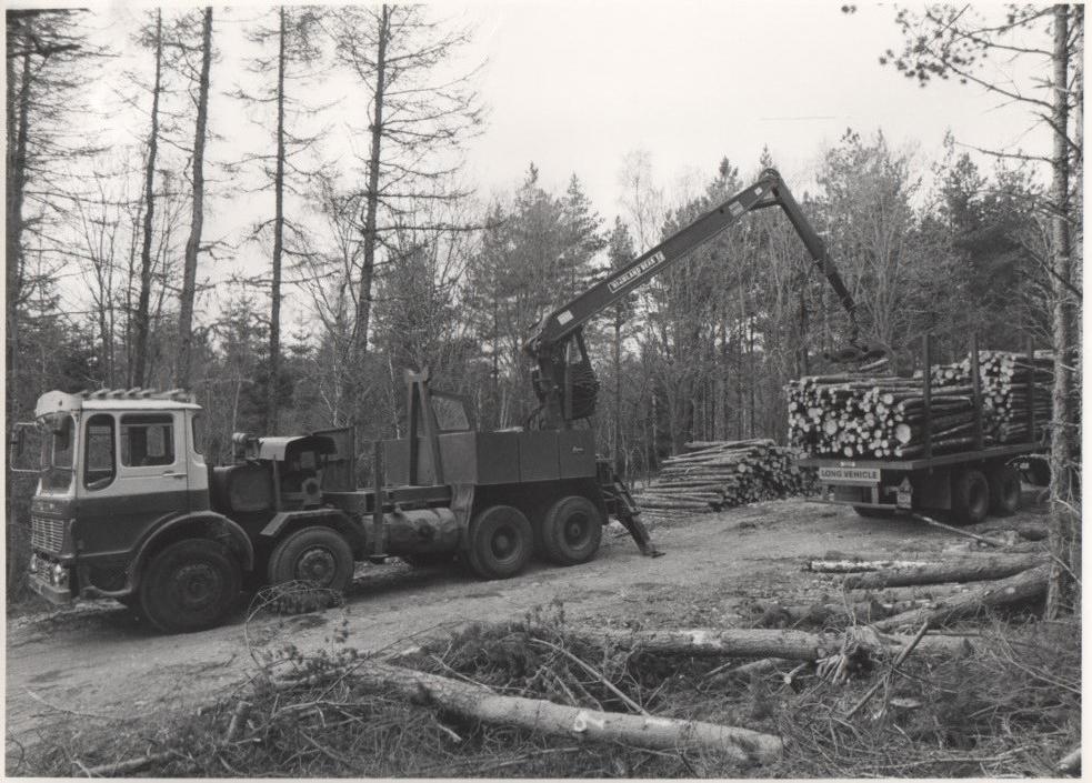 Highland Bear loading crane on an ERF Lorry.