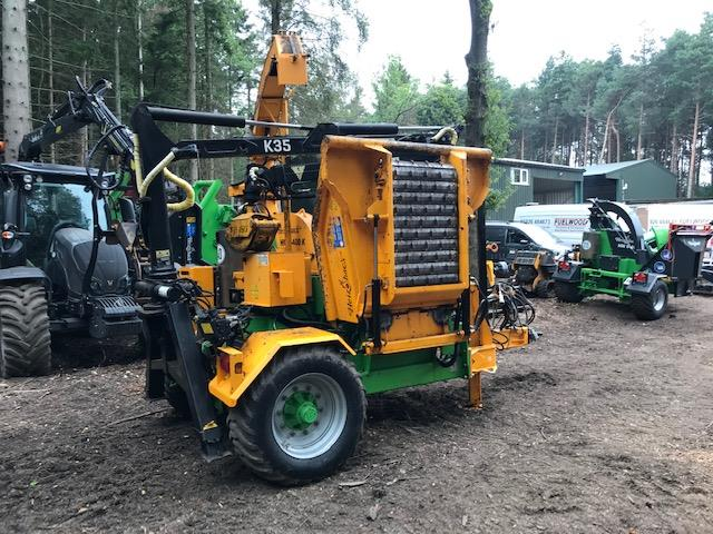 Machines For Sale - HEIZOHACK-HM8-400K with crane