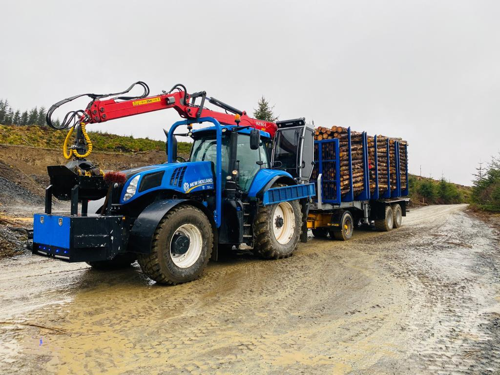 Howie Forestry Solutions - New Holland with Kesla 2010T crane.